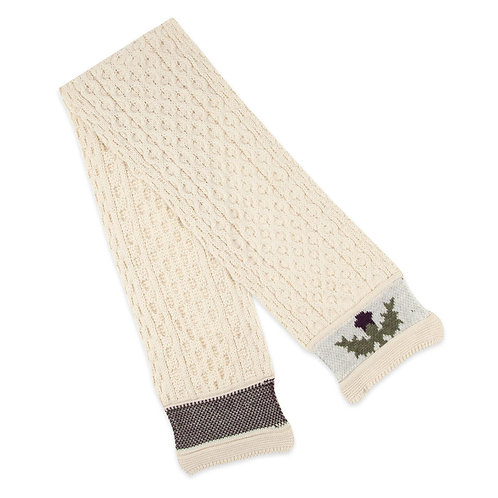 Thistle Scarf, 100% British Wool