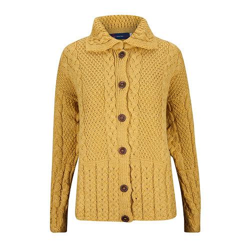 Aran Cardigan, 100% British Wool