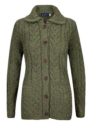 Aran Cardigan, 100% British Wool