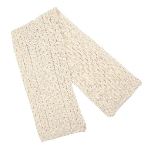 Ecru Scarf, 100% British Wool