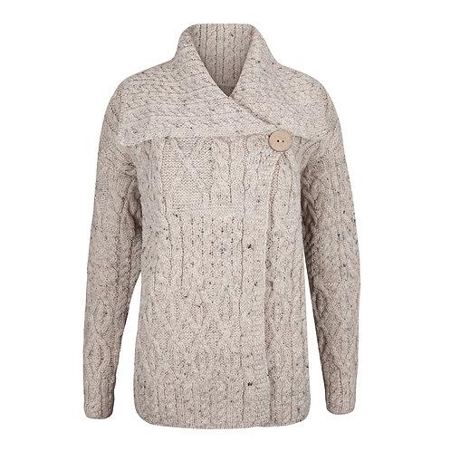 The Lucy Aran Cardigan, 100% British Wool