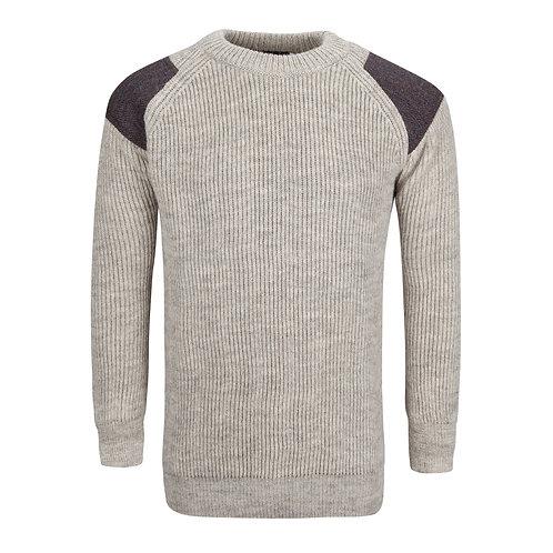 Tweed Crew Neck Jumper, 100% British wool