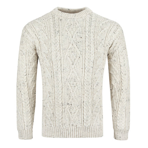 Traditional Aran Jumper, 100% British Wool