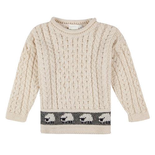 Children's Crew-neck , 100% British Wool.