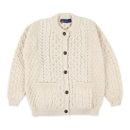 Children's Ecru Lumber Cardigan, 100% British Wool