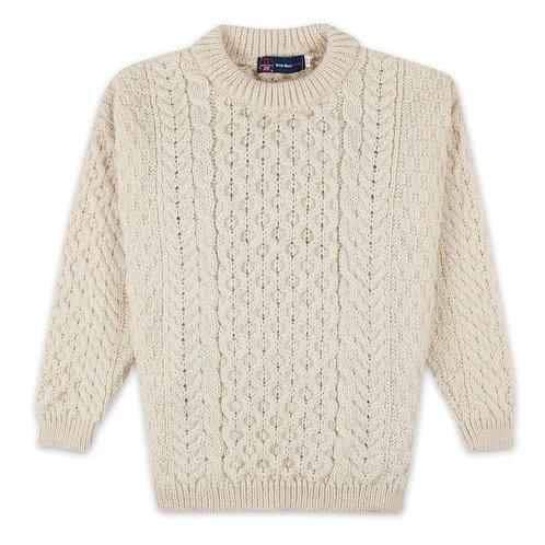 Children's Ecru Crew, 100% British Wool