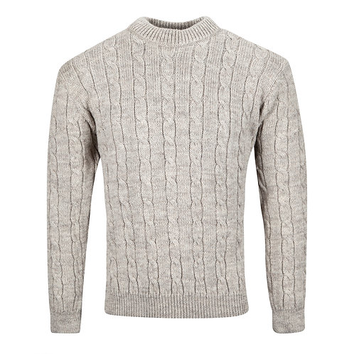 Cable Crew-Neck, 100% British Wool