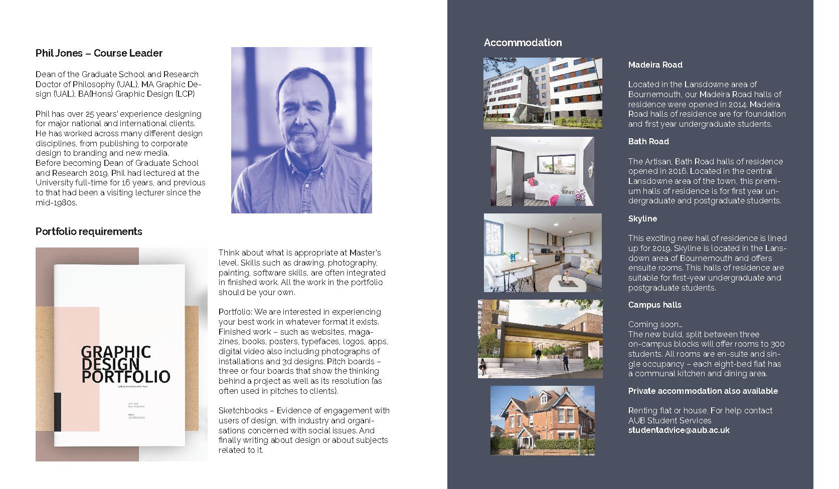 (MA) Graphic design brochure