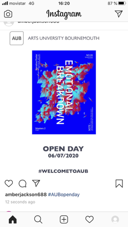 Open day poster advertising