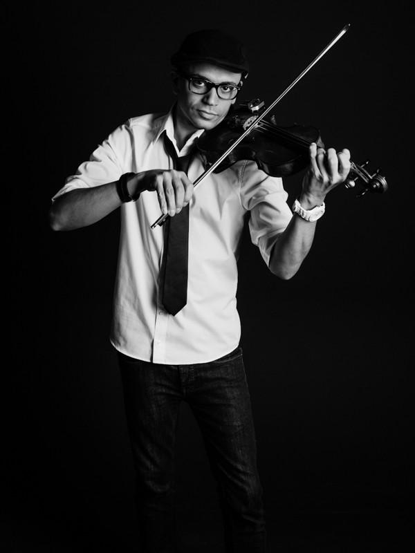 Maddin an der Violine