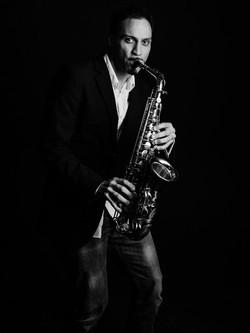 Karim am Saxophon
