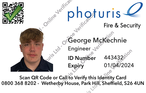 ID CARD FRONT GEORGE MCKECHNIE online co