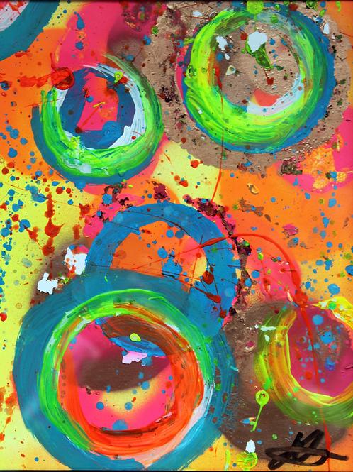 'Carnival' Original Abstract