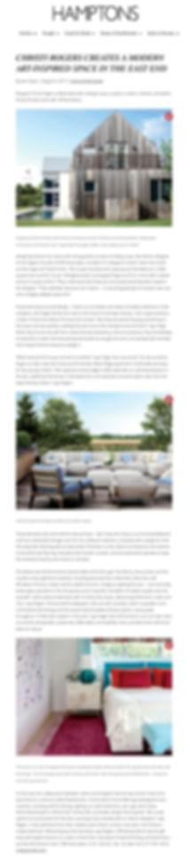 Christi Rogers CRD Associates Hamptons Magazine Arty Summer Retreat Bridgehampton Interior Design