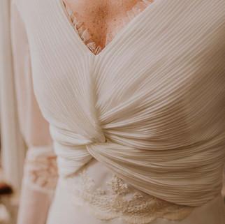 Vestido Evolet con manga ablusada