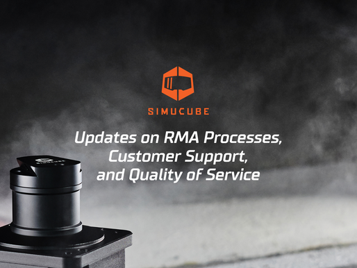 Updates on Simucube's RMA processes, Customer Support, and Quality of Service