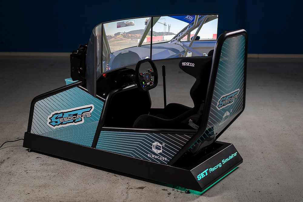SET Promotion, Official OEM Partner of Simucube, incorporating Direct Drive Force Feedback Wheelbase in the racing simulator for simracers.