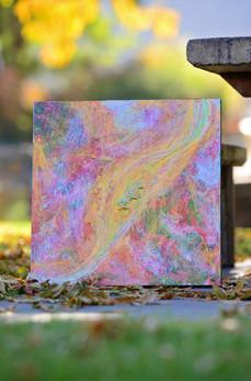 """Visceral""-Mixed media on canvas"