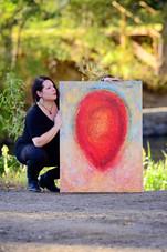 """Reflection""-Mixed media on canvas"