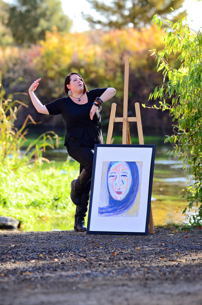 """Self Portrait""-Mixed media on paper"