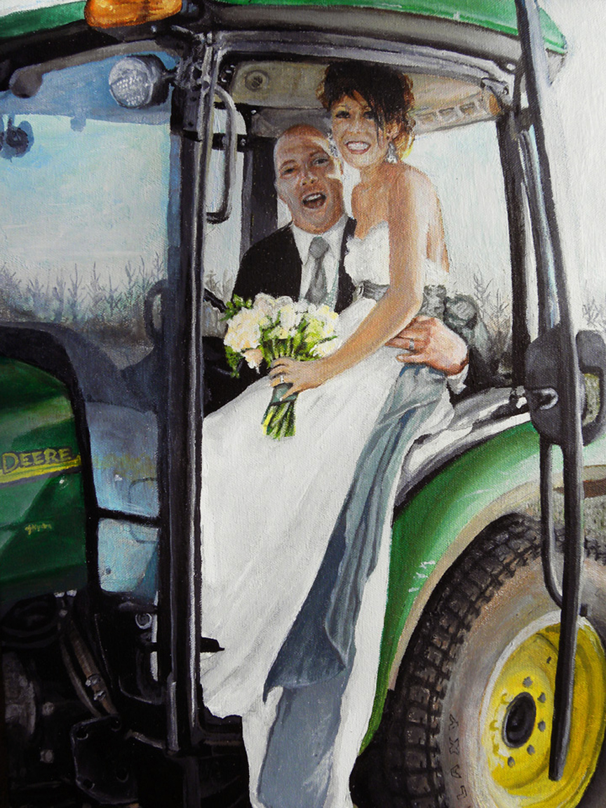 WEDDING TRACTOR - PRIVATE COLLECTION
