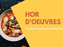 Hor D'Oeuvres (Appetizer) Menu