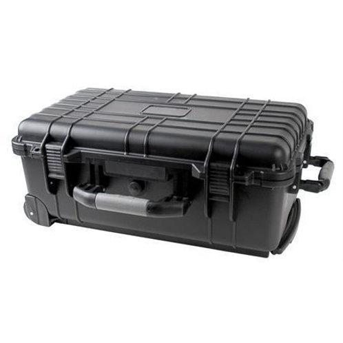 Rolling Black Weatherproof Equipment Case with Telescopic Handle