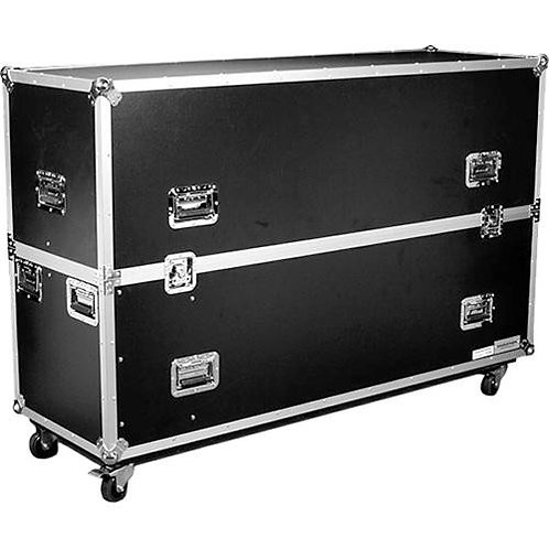"Universal Flight Road Case for Two 42"" Monitors"