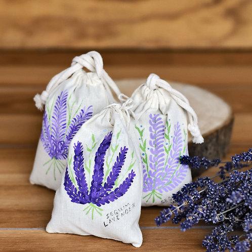 Hand-Painted Lavender Sachet