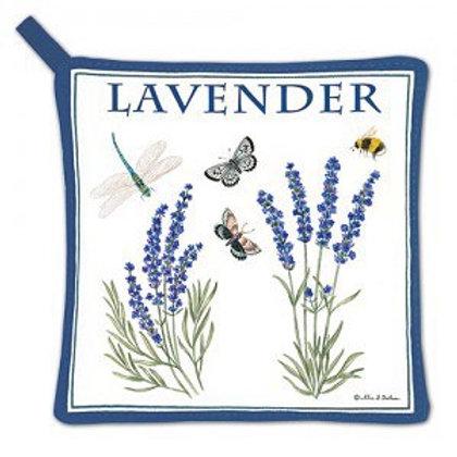 Lavender Design Pot Holder