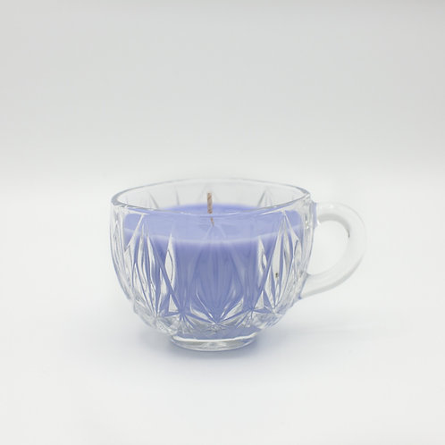 Lavender Soy Candle in Vintage Punch Glass