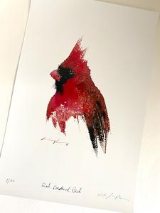 Red cardinal bird art print