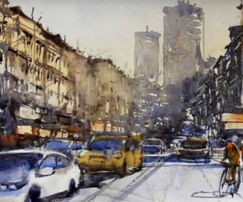 This watercolor lesson will help you to look up and embrace the granularity of making watercolor cityscape painting. Easy and step by step process to understand the end to end painting process.