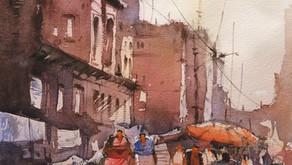 Watercolor Artof VaranasiGhats