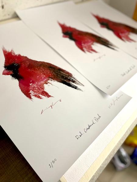 watercolour bird painting prints