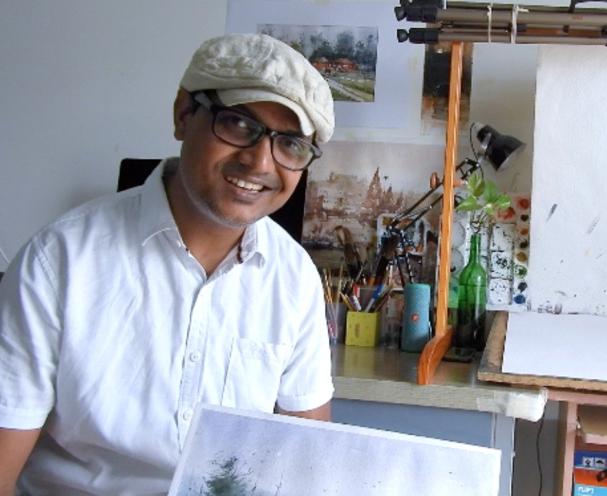 Online watercolor workshop - GLOBAL