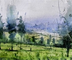 You wll learn how to paint watercolor landscape in very easy to follow step by steps colouring process