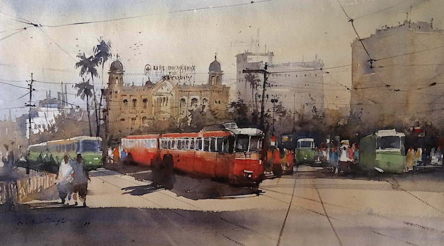 Original watercolor painting for sale in nitin singh online watercolor artwork gallery.