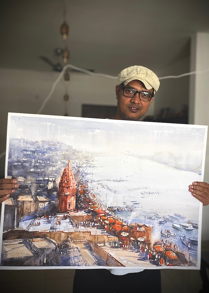 varanasi ghat painting