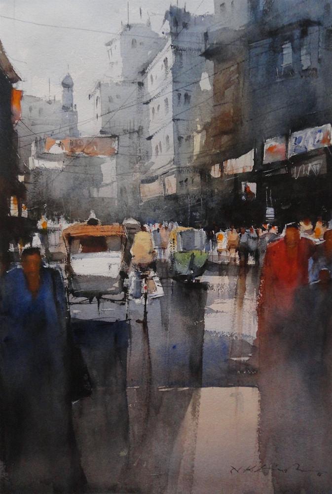 Watercolor cityscape prints
