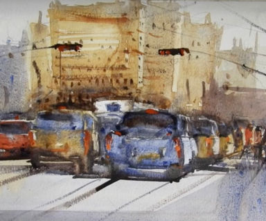 You will learn watercolor process of making how to paint car & city street in watercolor.