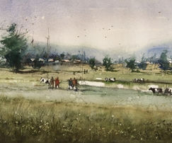 A simple & easy watercolor landscape techniques for you to learn how to paint landscape.