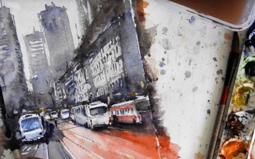 You will learn how to draw the subject for your watercolor painting, and layering watercolor techniques.
