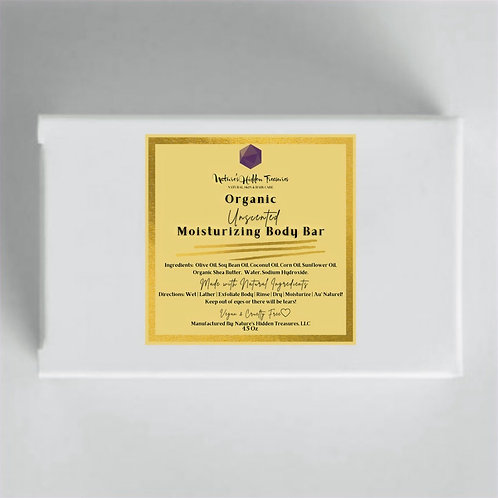 Organic Unscented Moisturizing Body Bar