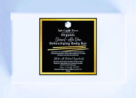 Charcoal + Aloe Vera Detoxifying Soap Bar | 4.5 oz.