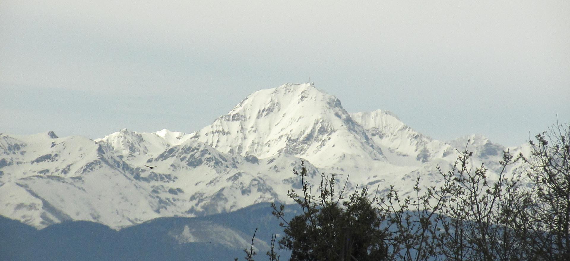 Le pic du midi de Bigorre vu depuis Thermes