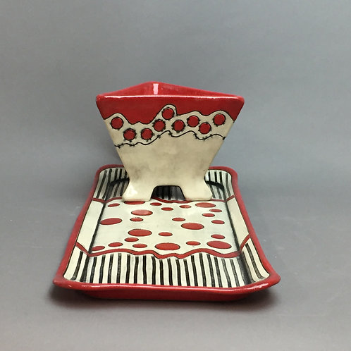"""""""Bouncing Trail"""" Serving Tray with Bowl"""