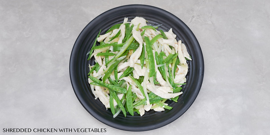 SHREDDED CHICKEN WITH VEGETABLES - CHEF
