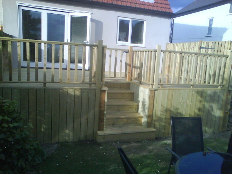 Decking & fencing.