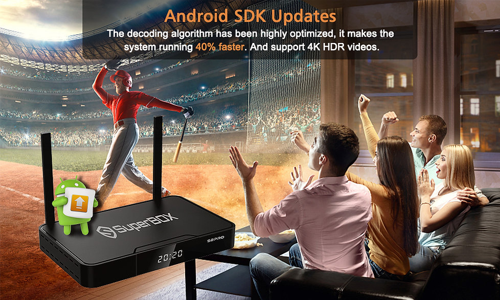 Android sdk updates with Superbox S2 Pro